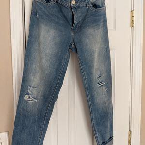 WHBM skinny sz 8 cropped jeans